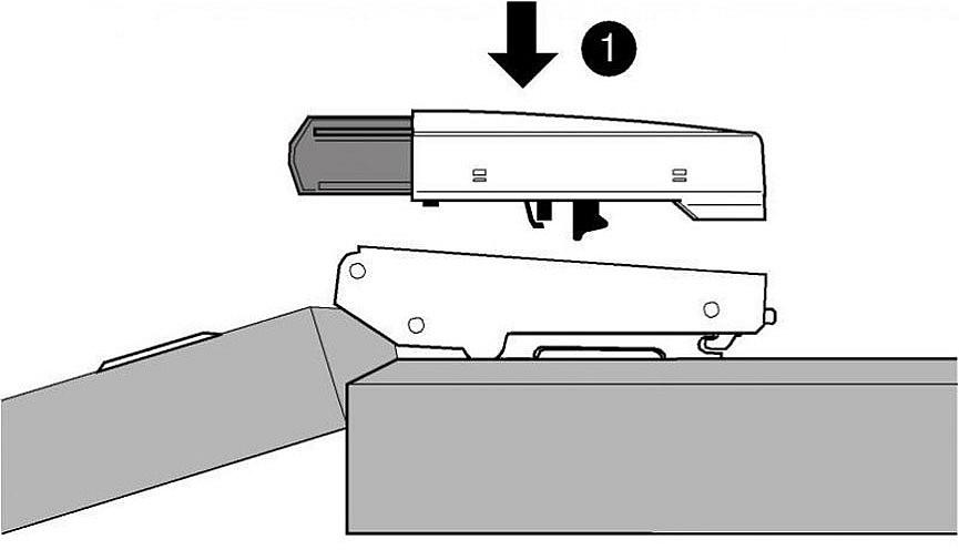 Как установить доводчик накладной петли