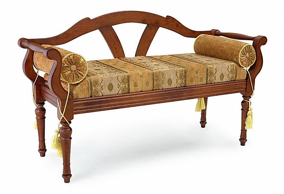 Банкетка со спинкой в классическом декоре
