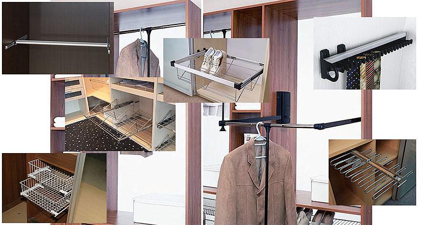 Огромное разнообразие приспособлений для шкафов