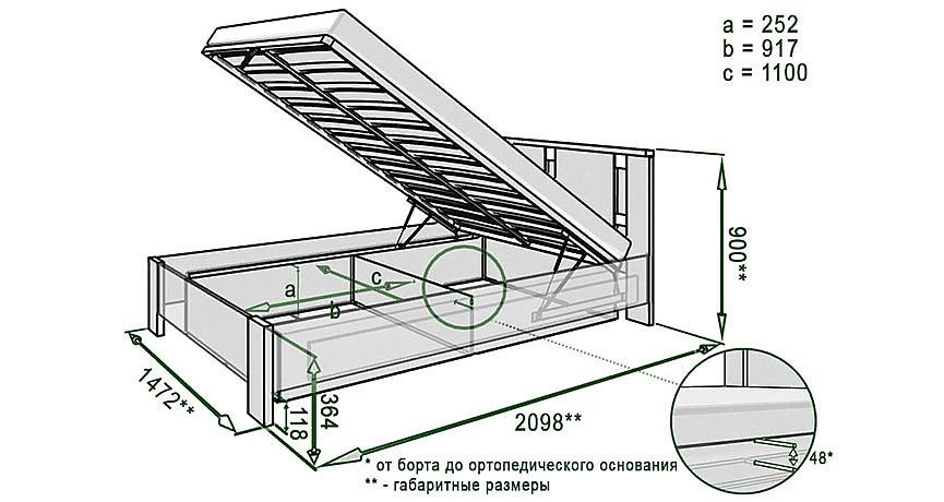 Схема установки подъемного механизма