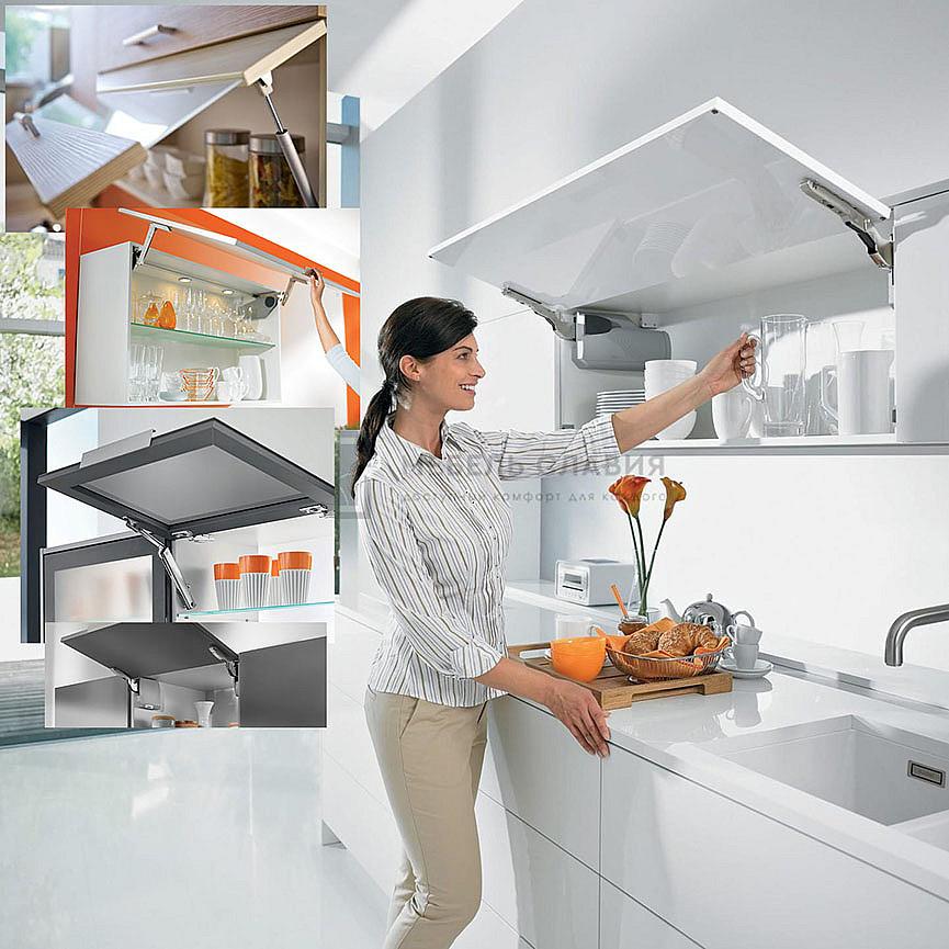 Подъемники для верхних кухонных шкафов очень удобны