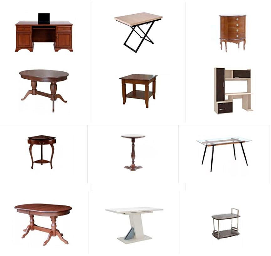 Разнообразие столов