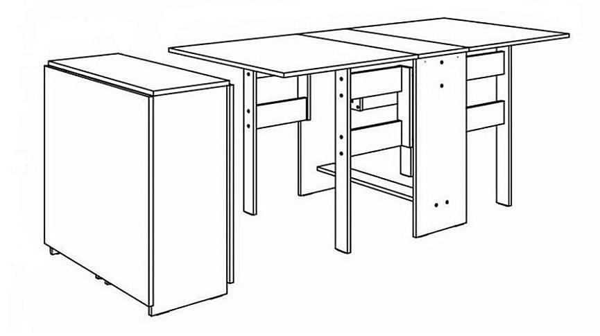 Раскладной стол-тумба для встречи гостей